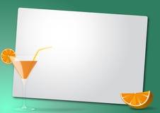 Orange cocktail sheet Royalty Free Stock Images