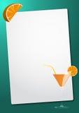 Orange cocktail sheet Stock Photos