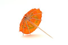 Orange cocktail umbrella #2 Stock Photo