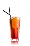 Orange Cocktail on white Royalty Free Stock Image