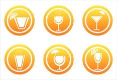 Orange cocktails signs Stock Image