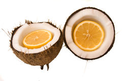 Orange coconut Stock Photography