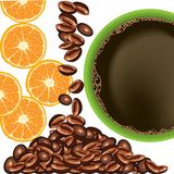 Orange and coffee Royalty Free Stock Photography