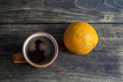 Orange & coffee Stock Photos