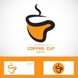 Orange coffee cup logo Royalty Free Stock Photos