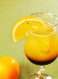 Orange coffee into a glass Stock Image