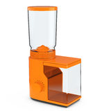Orange Coffee Grinder. 3d Rendering Stock Images