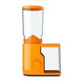 Orange Coffee Grinder. 3d Rendering Stock Image