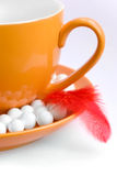 Orange coffee mug Stock Photo