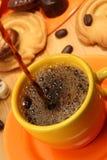 Orange coffee service. Stock Images