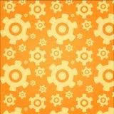Orange cog wheel backround pattern Royalty Free Stock Photo