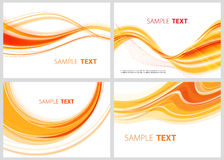 Orange collection. Set of abstract orange lines for design Royalty Free Stock Photography