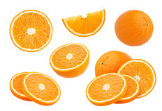 Orange collection isolated on white Stock Photos