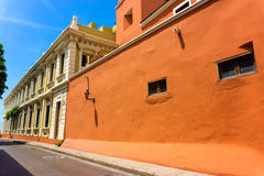 Orange Colonial Architecture Stock Images