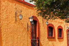 Orange Colonial Wall Stock Image