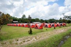 Orange colorée de tente Images libres de droits