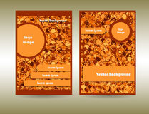 Orange color abstract circles Stock Photography