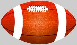 Orange color American football ball royalty free stock image