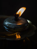 Orange color of Backlight from Oil lamp. Stock Image
