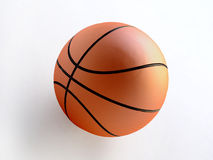 Orange Color Basketball Ball Royalty Free Stock Photos