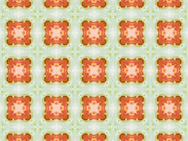 Orange color drawing in kaleidoscope pattern Royalty Free Stock Images