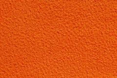 Orange Color Fabric Texture. Close-up of orange color fabric texture Stock Photo