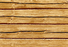 Orange color log house wall. Royalty Free Stock Photography
