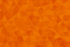 Orange color low poly background.  stock illustration