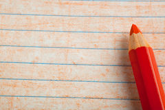 Orange color pencil with coloring Stock Image