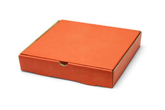 Orange color pizza takeaway box Royalty Free Stock Images