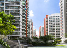 Orange color residential apartments Royalty Free Stock Images