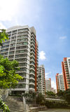 Orange color residential apartments Stock Image