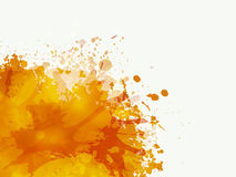 Orange color in splash. Royalty Free Stock Photos