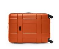 Orange color suitcase. lying on its side Stock Photo