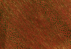 orange color textile material pattern. Stock Photography