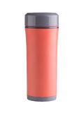Orange color thermos Royalty Free Stock Photos