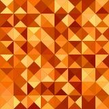 Orange color triangle mosaic background Royalty Free Stock Photo