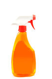 Orange color of the water spray Stock Images