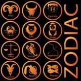 Orange color zodiac Stock Images