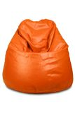 Orange colored bean bag Royalty Free Stock Photography