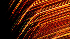 Orange colored light lines Royalty Free Stock Photo