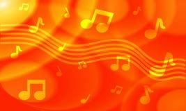 Orange Colored Musical Background Stock Photos