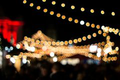 Free Orange Colored Out Of Focus Bokeh Balls From Illuminating Christmas Light In The Zurich Xmas Market At Night Royalty Free Stock Images - 165367579
