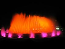 Orange colorful fountain Stock Photography