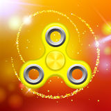 Orange colorful spinner on an abstract background with orange luminous backdrop.. Orange colorful spinner on an abstract background with orange luminous Stock Photography