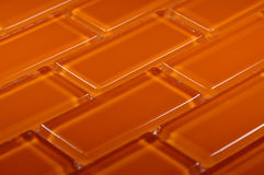 Orange coloured glass mosaic Royalty Free Stock Photography