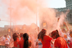 Orange coloured people Royalty Free Stock Photos