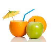 Orange comme boisson Image libre de droits