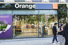 Orange Communications retail store Royalty Free Stock Photo