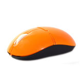 Orange computer mouse Royalty Free Stock Images